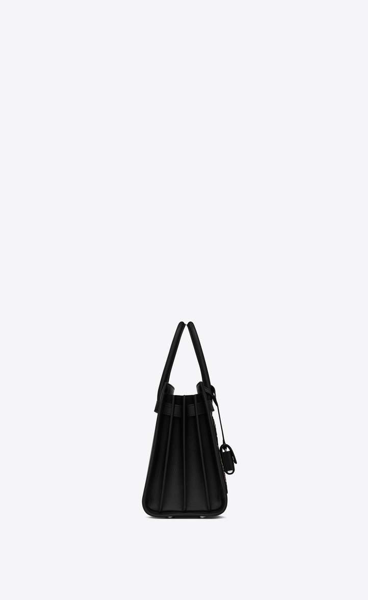 8a7ade6cb19e Saint Laurent Classic Baby SAC DE JOUR Multi Patch Bag In Black ...
