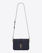 SAINT LAURENT Monogram université bag D Classic Medium MONOGRAM SAINT LAURENT UNIVERSITÉ Bag in Navy Blue Grained Leather f
