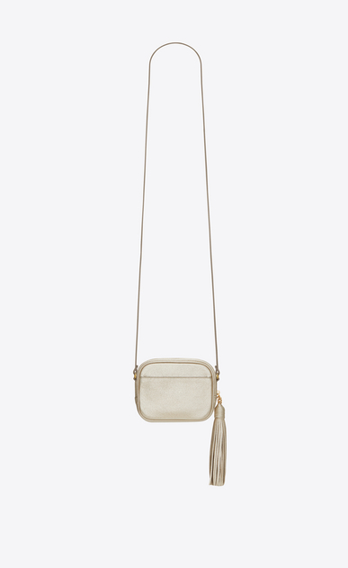 SAINT LAURENT Camera bag D monogram blogger bag in pale gold grained metallic leather b_V4