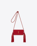 SAINT LAURENT Opium D OPIUM Box Bag in Red Glossy Plexiglass and Gold Leather f