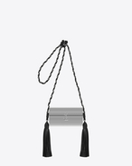 SAINT LAURENT Opium D OPIUM Box Bag in Silver Glossy Plexiglass and Black Leather f