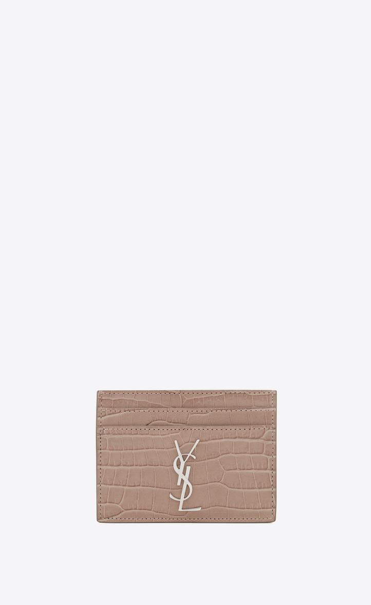 Porte-cartes en cuir embossé Monogramme 6dn0bI