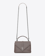 SAINT LAURENT Monogram College D Classic Medium MONOGRAM SAINT LAURENT COLLÈGE grigio nebbia in coccodrillo stampato f