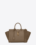 SAINT LAURENT MONOGRAMME TOTE D Small MONOGRAM SAINT LAURENT DOWNTOWN CABAS YSL Bag in Taupe Leather and Suede f