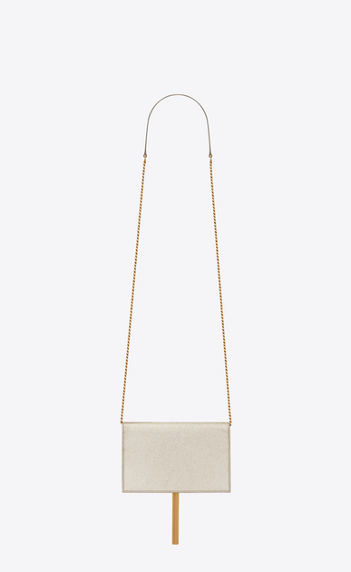 SAINT LAURENT Mini bags Kate D classic kate tassel chain wallet in pale gold grained metallic leather b_V4
