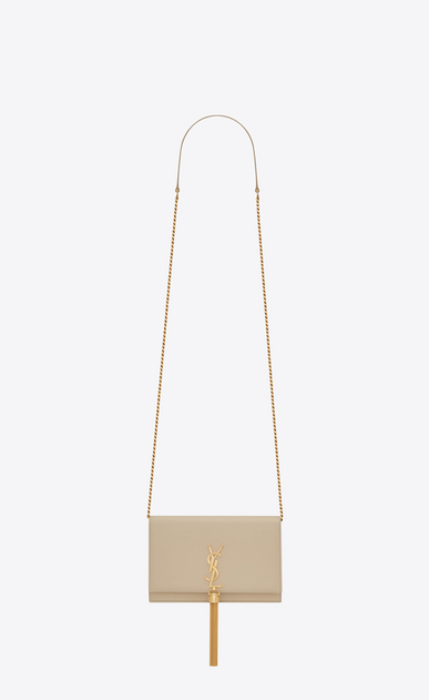 SAINT LAURENT Mini bags Kate D classic kate tassel chain wallet in powder leather a_V4
