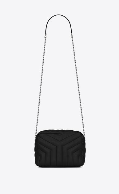 "SAINT LAURENT Monogramme Loulou D classic small loulou bowling bag in black ""y"" matelassé leather v4"