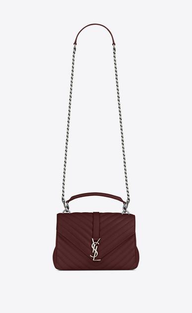 SAINT LAURENT Monogram College Woman Medium COLLEGE bag in powder pink matelassé leather V4