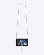 "SAINT LAURENT MONOGRAM KATE WITH TASSEL D Classic KATE MONOGRAM SAINT LAURENT ""LOVE"" Tassel Chain Wallet in Black Leather and Multicolor Patchwork f"