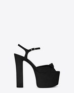 SAINT LAURENT Betty Shoes D Betty 80 Sandale aus schwarzem Veloursleder mit Schleife f