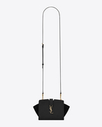 SAINT LAURENT Toy YSL Cabas D Toy YSL CABAS Bag in Black Leather and Suede f