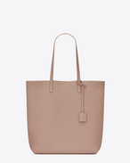 SAINT LAURENT Shopping Saint Laurent E/O D Sac cabas medium SHOPPING en cuir rose antique f