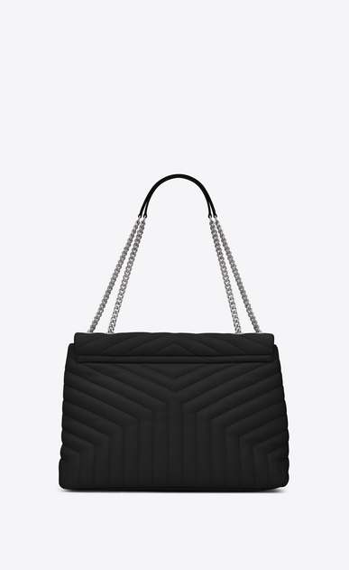 "SAINT LAURENT Monogramme Loulou D large loulou chain bag in black ""y"" matelassé leather b_V4"