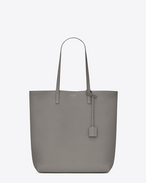 SAINT LAURENT Shopping Saint Laurent E/W D Medium SHOPPING SAINT LAURENT Tote Bag in Pearl Grey Leather f