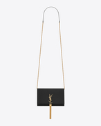 SAINT LAURENT MONOGRAM KATE WITH TASSEL D Classic KATE MONOGRAM SAINT LAURENT Tassel Chain Wallet in Black Leather f