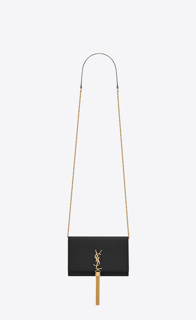 SAINT LAURENT Mini bags Kate Woman kate tassel chain wallet in smooth leather a_V4