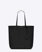 SAINT LAURENT Shopping Saint Laurent E/W D Medium SHOPPING SAINT LAURENT Tote Bag in Black Leather f