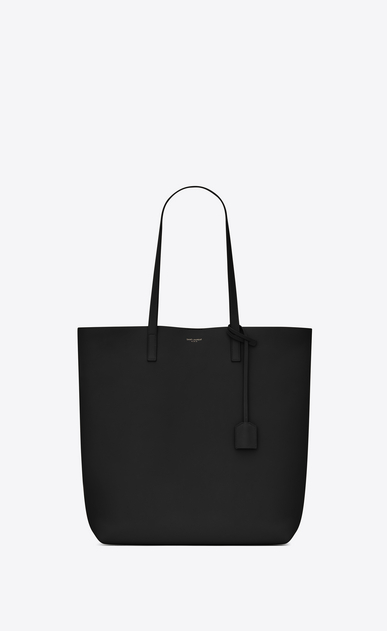 SAINT LAURENT Shopping Saint Laurent E/W D shopping saint laurent tote bag in black leather a_V4