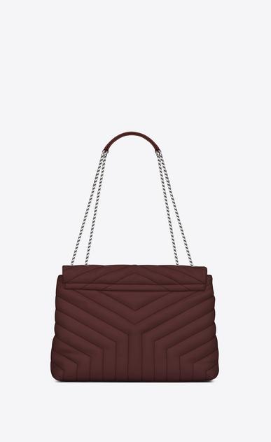 "SAINT LAURENT Monogramme Loulou D medium loulou chain bag in dark red ""y"" matelassé leather b_V4"
