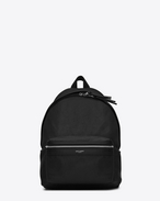 SAINT LAURENT City Backpack D Mini CITY Backpack in Black Leather f