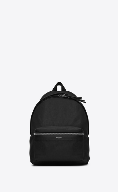 SAINT LAURENT City Backpack Woman Mini CITY Backpack in Black Leather a_V4