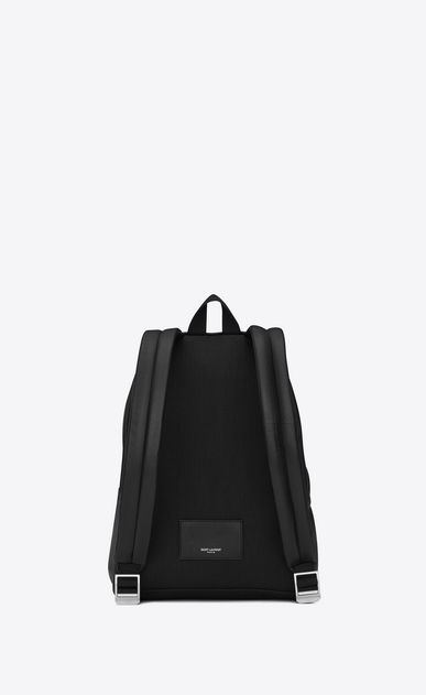 SAINT LAURENT City Backpack Woman Mini CITY Backpack in Black Leather b_V4