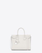 SAINT LAURENT Baby Sac de Jour D classic baby sac de jour bag in dove white grained leather f