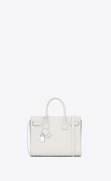 SAINT LAURENT Baby Sac de Jour D classic baby sac de jour bag in dove white grained leather a_V4