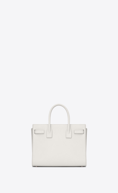 SAINT LAURENT Baby Sac de Jour D classic baby sac de jour bag in dove white grained leather b_V4