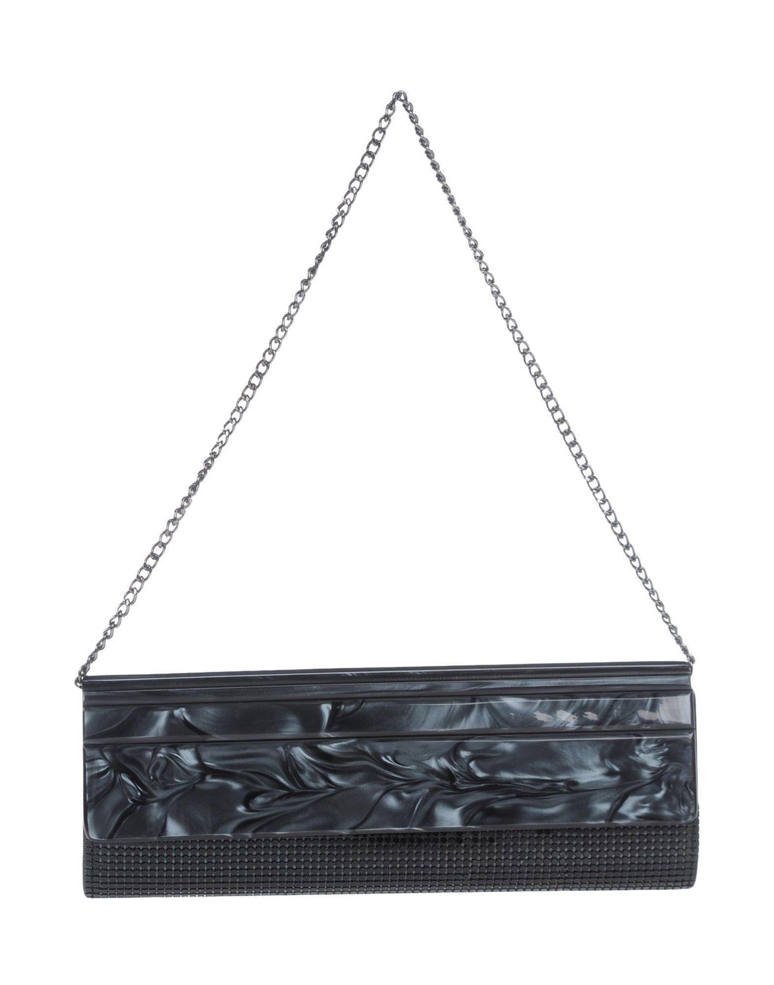 《送料無料》VOLUM レディース ハンドバッグ スチールグレー プラスティック 100%