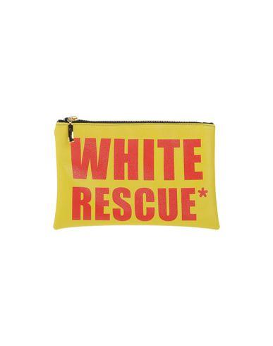 WHITE* レディース ハンドバッグ イエロー 紡績繊維