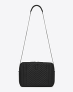 SAINT LAURENT Messenger And Crossbody U MONOGRAM SAINT LAURENT Camera Bag in Black Mixed Matelassé Leather f
