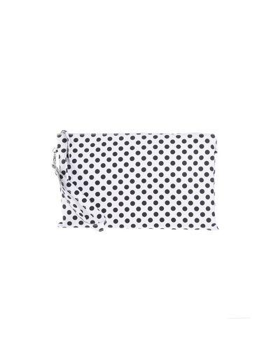STELE レディース ハンドバッグ ホワイト 紡績繊維