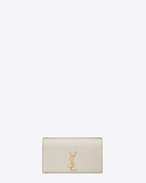 SAINT LAURENT MONOGRAM KATE CLUTCH D classic monogram saint laurent clutch in pale gold grained metallic leather f