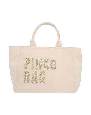 PINKO BAG レディース ハンドバッグ アイボリー コットン 100%