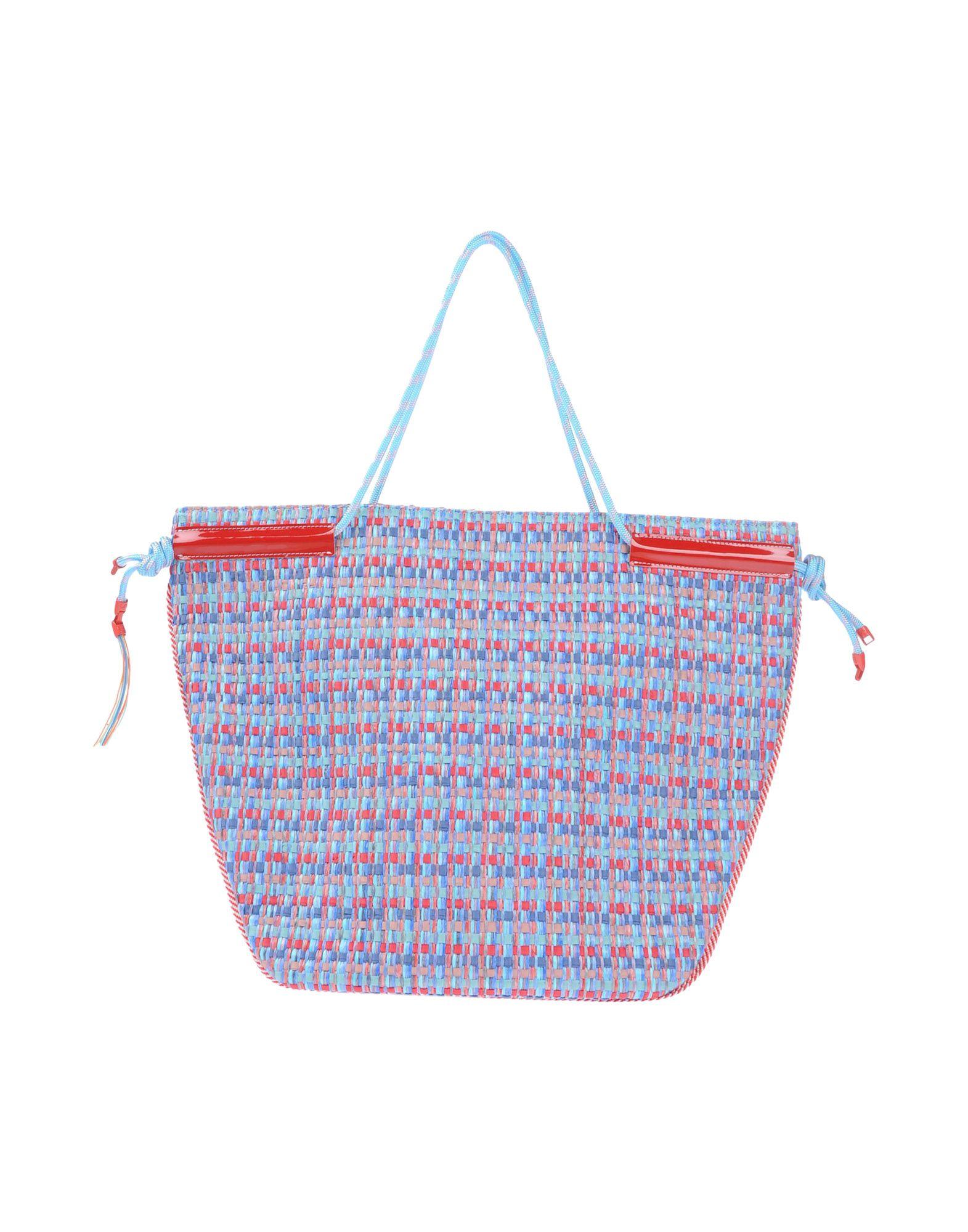 《送料無料》L4K3 レディース ハンドバッグ スカイブルー 紡績繊維