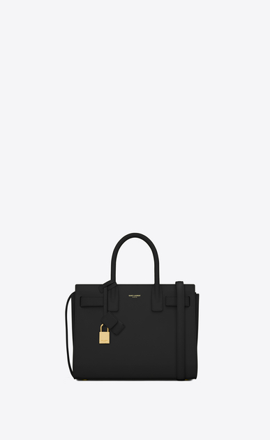 SAINT LAURENT Baby Sac de Jour Woman baby sac de jour bag in black leather a_V4