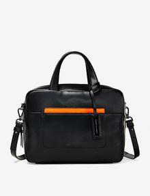 ARMANI EXCHANGE COLORBLOCK ACCENT SATCHEL Bag Woman f