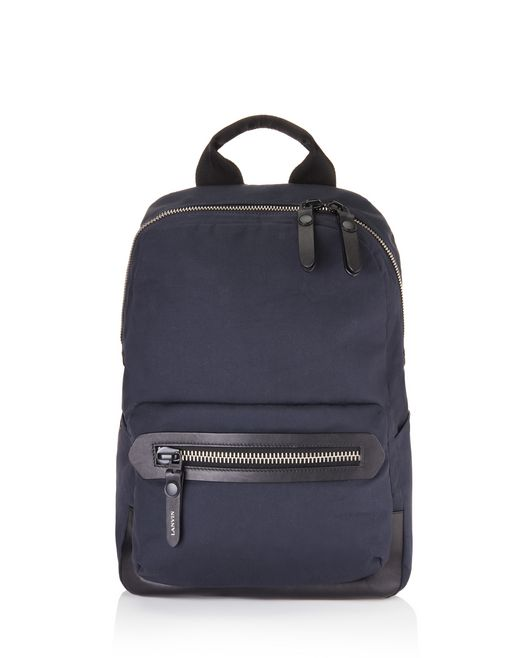 lanvin cotton zip backpack  men
