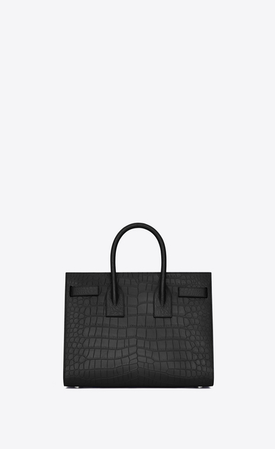 SAINT LAURENT Sac De Jour Small D classic small sac de jour bag in black crocodile embossed leather b_V4