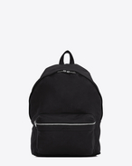 SAINT LAURENT Backpack U city backpack in black washed leather f