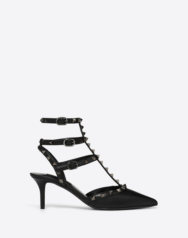 Rockstud Noir caged Pump 65mm