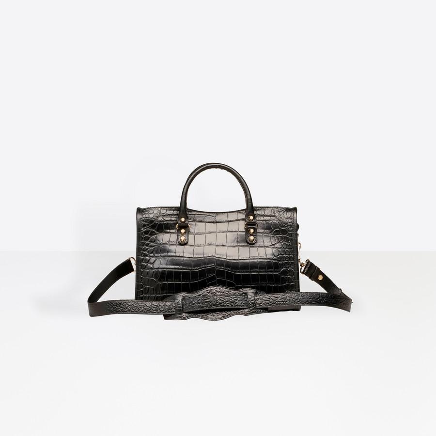 BALENCIAGA Croc-effect City S Giant Croc Print Handbags D d