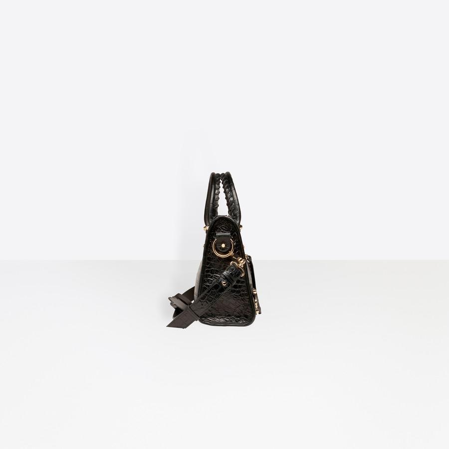 BALENCIAGA Croc-effect City S Giant Croc Print Handbags D i
