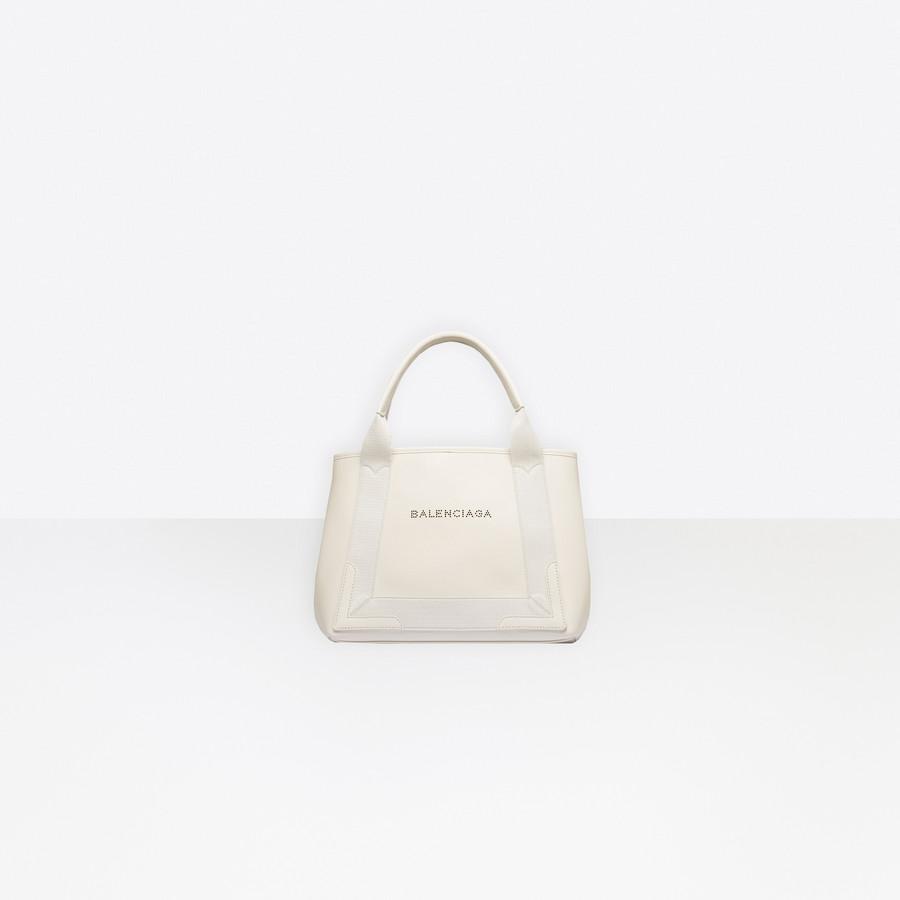 BALENCIAGA Leather Navy Cabas S Navy Handbag D f