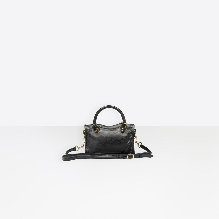 BALENCIAGA Classic Gold Nano City Classic New City Handbags Woman d