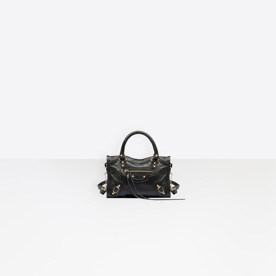 BALENCIAGA Classic Gold Nano City Classic New City Handbags Woman f