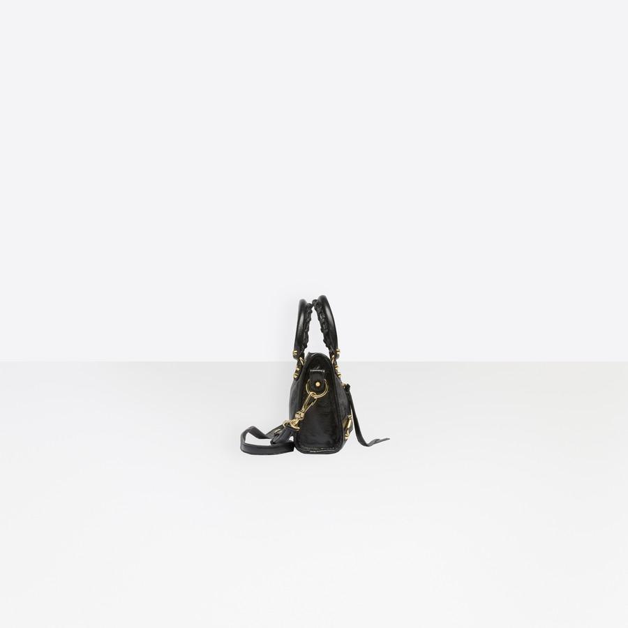 BALENCIAGA Classic Gold Nano City Classic New City Handbags Woman i