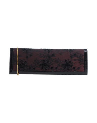 LUXAX レディース ハンドバッグ ディープパープル 革 / 紡績繊維