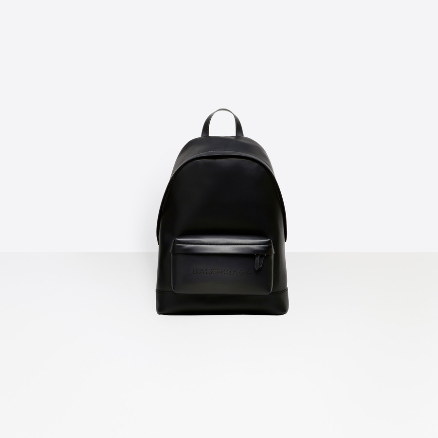 BALENCIAGA Navy Leather Backpack Navy Bag U f